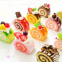 cake roll squishy cute realistic food like charms phone strap toy s