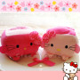 hello kitty tofu cute plush toy plushie soft phone holder kawaii