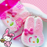 pink bunny cake roll kawaii cute stuff sanrio hello kitty my melody