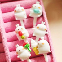 bunny cute i phone anti dust plug marshmallow kawaii rabbit phone accessory shop