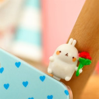 rabbit funny cute kawaii anti dust plug phone mobile pluggie