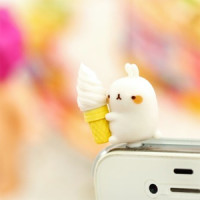 rabbit funny cute kawaii anti dust plug phone mobile pluggie shop