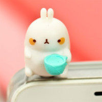 rabbit funny cute kawaii anti dust plug phone mobile pluggie shop online