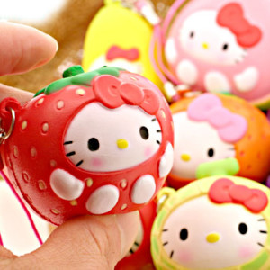 hello kitty strawberry squishy rare kawaii cute nic