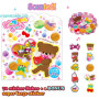 melody bear sticker sack sticker flakes mind wave japan animals cute stickers kawaii kids buy online australia new zealand