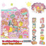 mind wave japan sticker sheet sack flakes cute kawaii animals happy