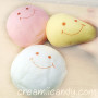 marshmallow bun cute pink smiley face marshmallow bun squishy buy online super cute kawaii