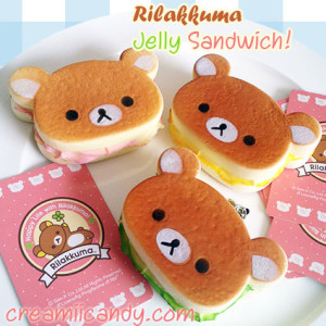 rilakkuma jelly sandwich squishy cute kawaii san-x cute stuff accessory gifts kids online store