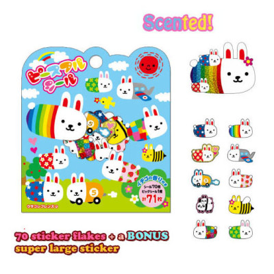 usacolle peaceful sticker sheet sack cute bunny kawaii