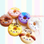 donut phone charms cute phone strap dog animals