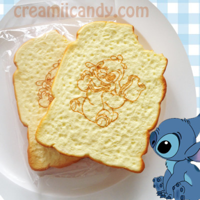 Stitch Squishy Bun : rare Jumbo Stitch bitten toast squishy