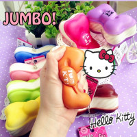 jumbo bow macaron squishy hello kitty squishy cute sanrio stuff