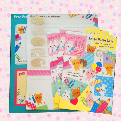 petit petit life kawaii cute stationery letter sets cute shop online australia mindwave japan stationery sets