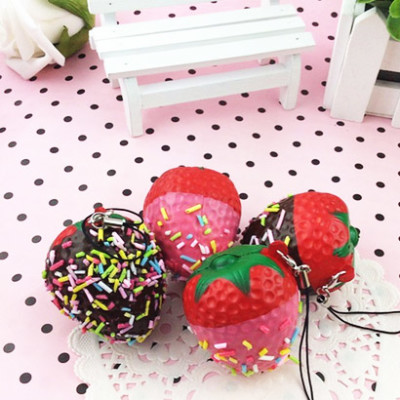 strawberry squishy charm cute stuff online shop kawaii cute