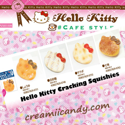RARE SANRIO JAPAN HELLO KITTY PAKI PAKI SENBEI RICE CRACKING SQUISHY