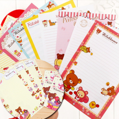 rilakkuma san-x bear cute stationery kawaii letter sets for kids