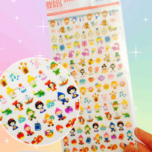mindwave fairy tale cute mini sticker sheet kawaii japanese cute stuff shop onlien australia