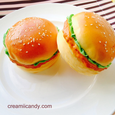 jumbo burger squishy cute kawaii squishy realistic buns hamburger