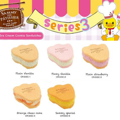 sammy squishy 3 series ice cream cookie sandwhich buy online australia new zealand
