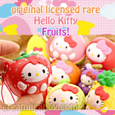 rare hello kitty fruits squishy