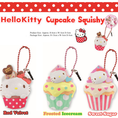 hello kitty cupcake sanrio rare squishy stuff cute shop australia