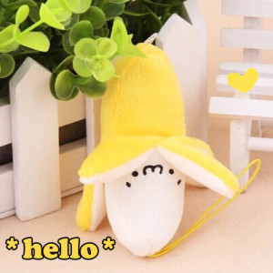 banan cute plush kawaii shop mobile phone acessory cute things