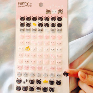 cute kitty sticker sheet
