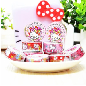 hello kitty deco tape cute stuff sticker