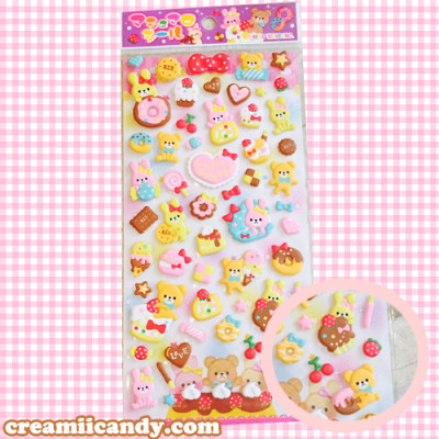 buy cute stickers kawaii puffy sticker sheets mind wave japan kawaii animals