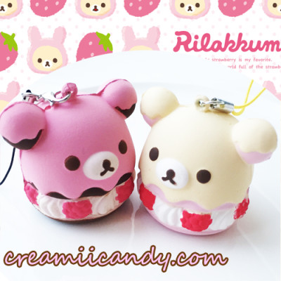 rilakkuma cream puff squishy cute kawaii squishy stuff shop