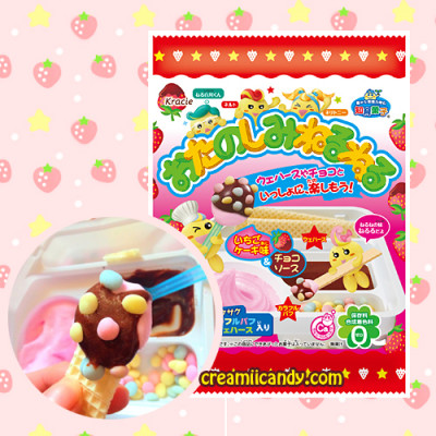 kracie neru neru strawberry cake candy kit DIY