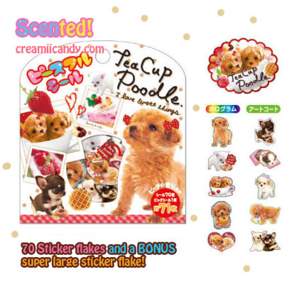 tea cup poodle puppy stickers mind wave