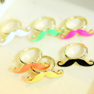 moustache rings cute gold adjustable australia shop buy online s