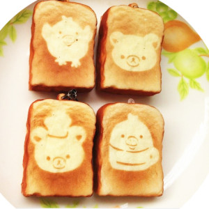 rilakkuma toast squishy cute kawaii mini squishy shop australia