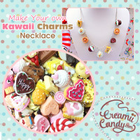 cute DIY necklace charms kawaii food necklace pink cute make your own