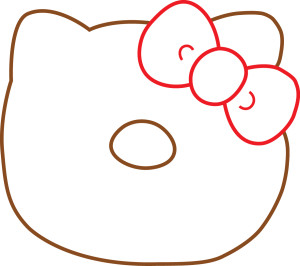 hello kitty donut template 2