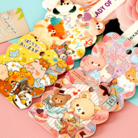 q-lia cute animals sticker sheet sack flakes panda rabbit bunny piggy bear kawaii