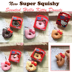hello kitty new box packaging super squishy donuts
