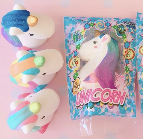 Squishy Donut Unicorn : Jumbo unicorn head squishy ~ licensed