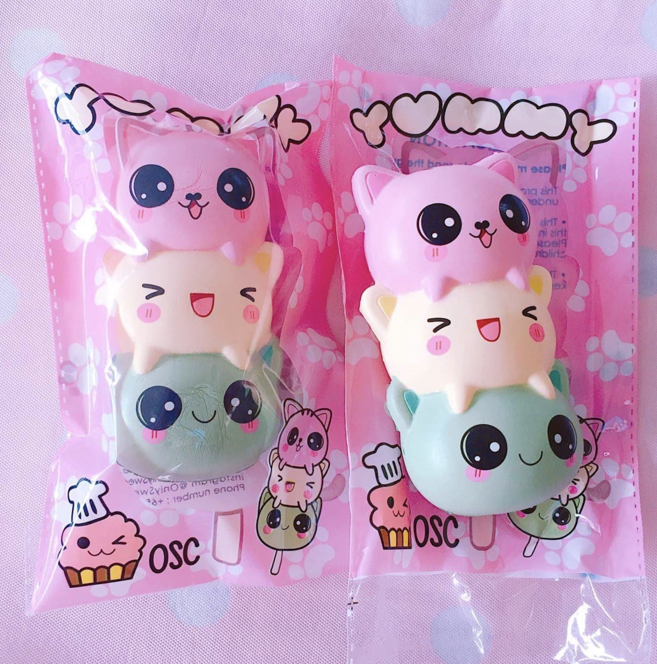 Pink And Blue Bedroom Onlysweetcafe Kitty Dango Squishy Soft Scented