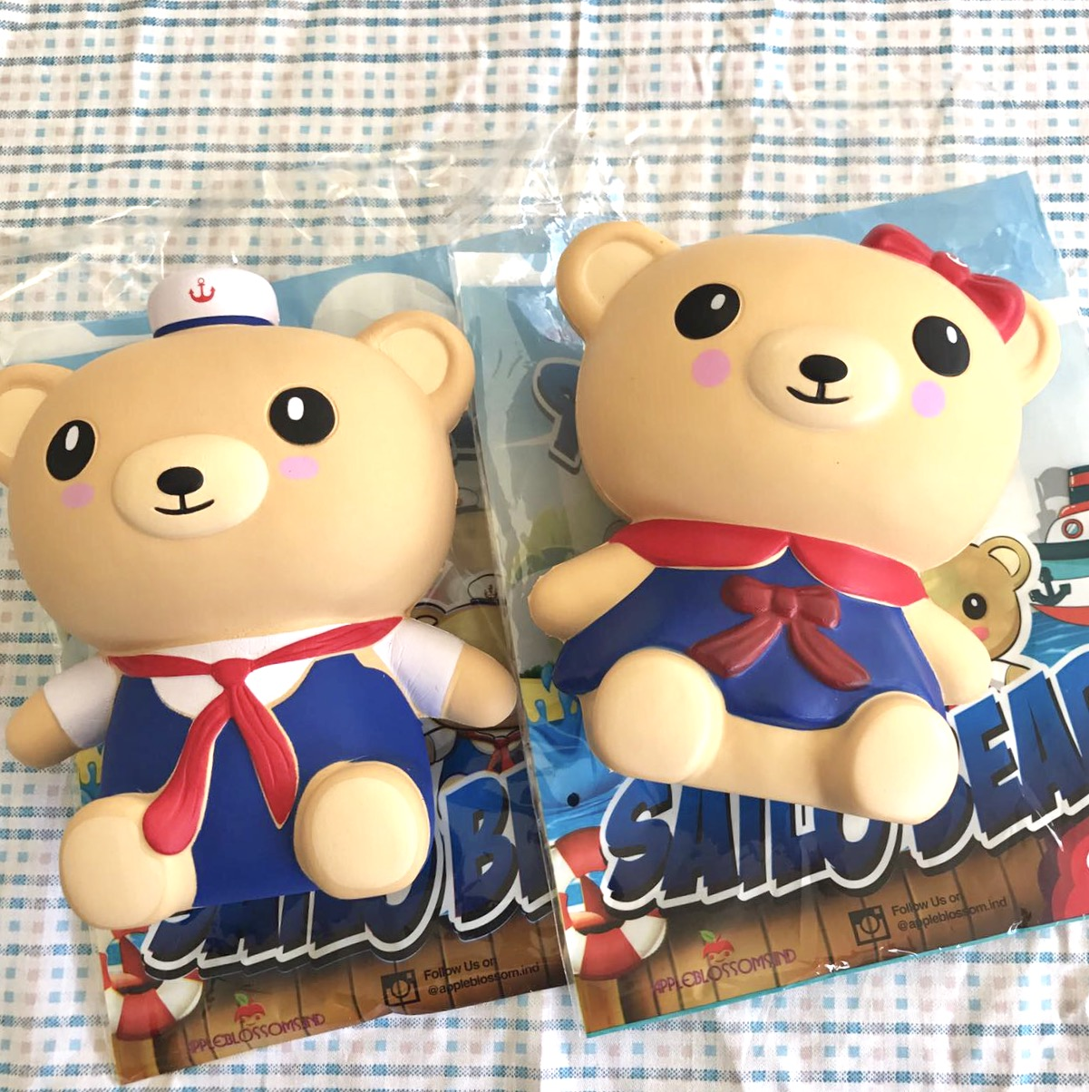 apple blossoms brand super jumbo sailor bear squishy scented