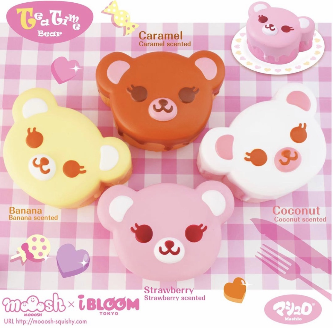 IBloom licensed tea cup bear cake super squishy scented