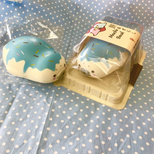 puni maru blue icecream jumbo mochi seal rare