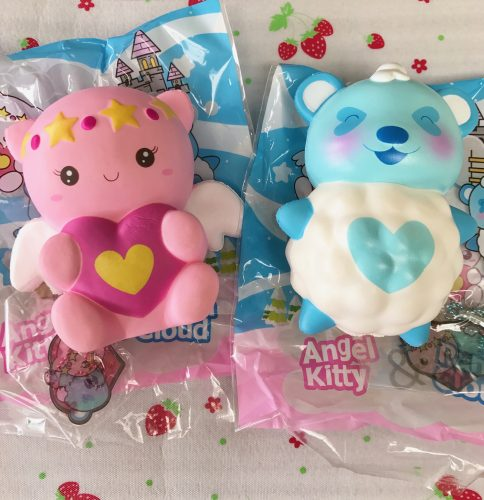 panda cloud and angel kitty squishy puni maru rasre
