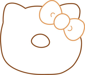 hello kitty donut template