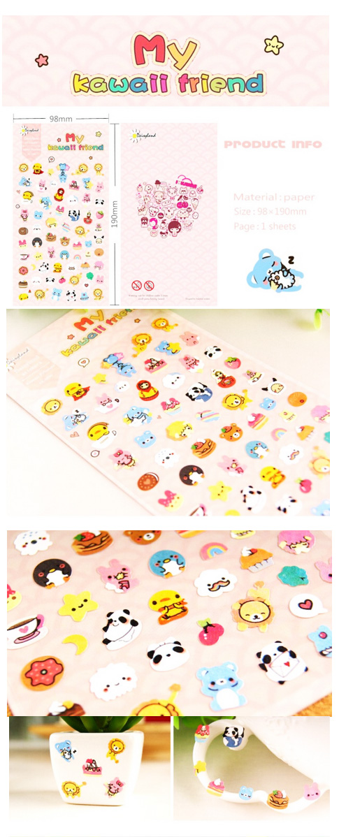 kawaii stickers animals japan