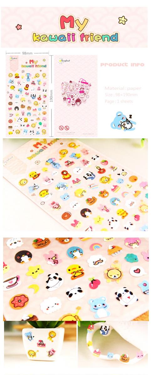 kawaii stickers animals japan