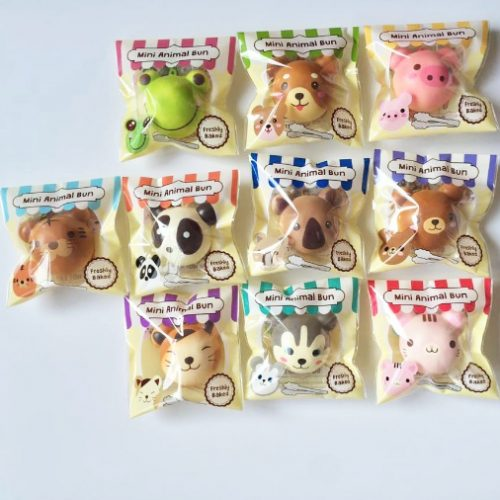 Squishy Animal Buns : MINI Puni Maru squishy animal buns ~ cute, scented