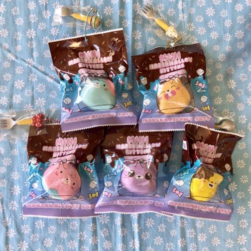 Baby Puni Maru marshmallow kitty squishy ~ cute charms
